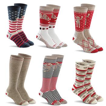 Original Sock Monkey Socks Merino Wool Lightweight SUPER SOFT & COMFY Made USA