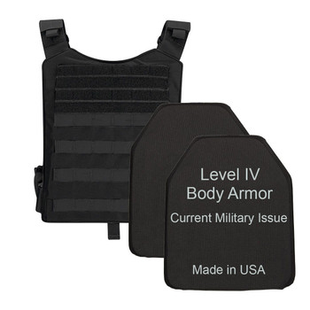 Level IV Body Armor with Plate Carrier & Bag