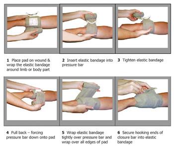 Israeli Bandage 4 inch Sterile Compression Wound Wrap