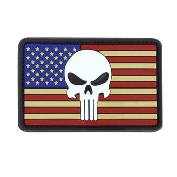PUNISHER US FLAG PVC PATCH