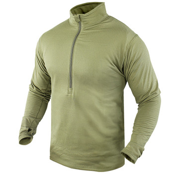 ECWCS Base II Military Generation III Zip Pullover Waffle Thermal Top