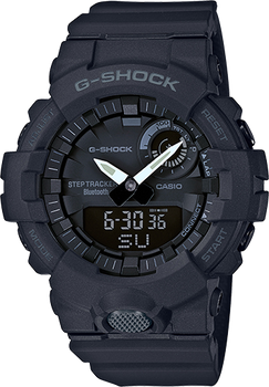 Casio G-Shock Digital Watch with Step Tracker Resin GBA800-1A Black