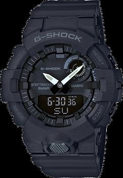 Casio G-Shock Digital Watch with Step Tracker Resin GBA800-1A Black