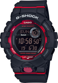 Casio G-Shock Digital Watch GBD800-1 Black and Red
