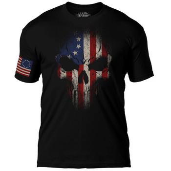 Betsy Ross Flag Skull T-Shirt