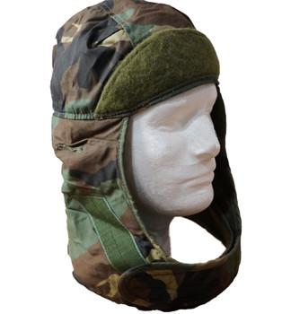 Original Military Issue Helmet Liner Woodland Camo