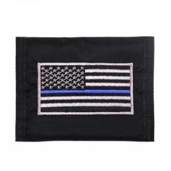 Thin Blue Line Flag Nylon Commando Wallet