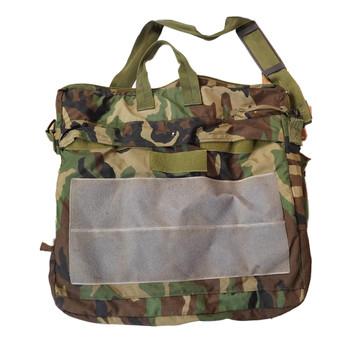 Military Flyers Helmet Bag Woodland Camo used