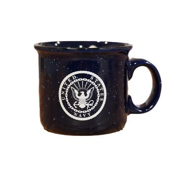 Navy 12oz Camper Metal Coffee Mug
