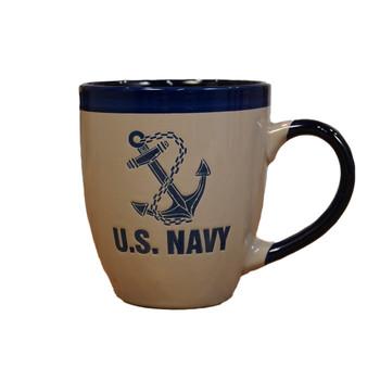 US Navy Bistro 16oz Coffee Mug