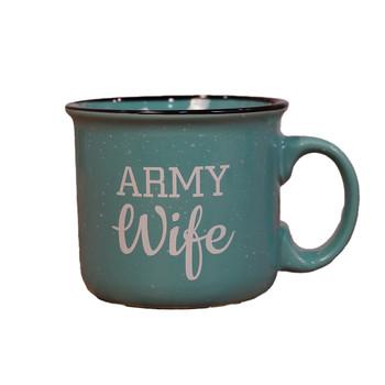 Army Wife 12oz Camper Coffee Mug