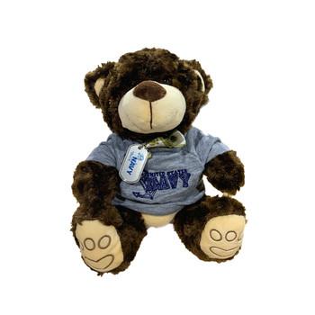 Navy Teddy Bear with Dog Tag