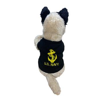 Navy Military Working Plush K-9 Dog