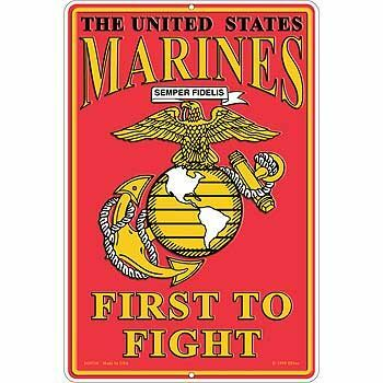 """US Marines First to Fight Sign 12""""x18"""""""