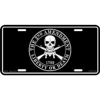 "2ND Amendment License Plate 6""x12"""