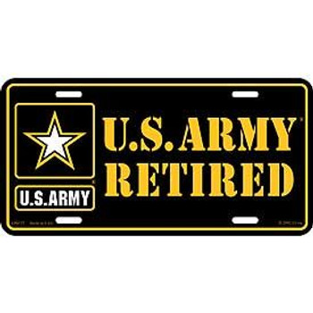 "Army Retired License Plate 6""x12"""