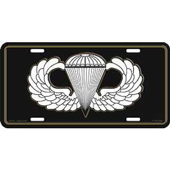 "Military Para Wing A/B License Plate 6""x12"""