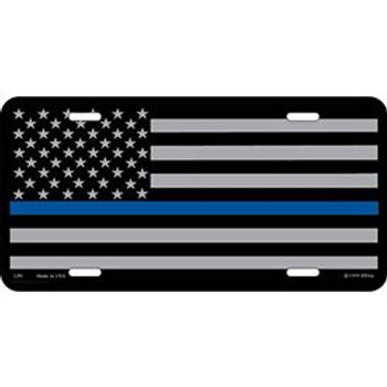 Blue Line License Plate