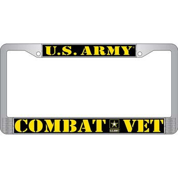 Army Combat Veteran License Frame