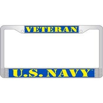 United States Navy Veteran License Frame