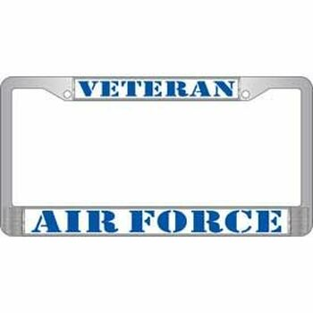United States Air Force Veteran License Frame