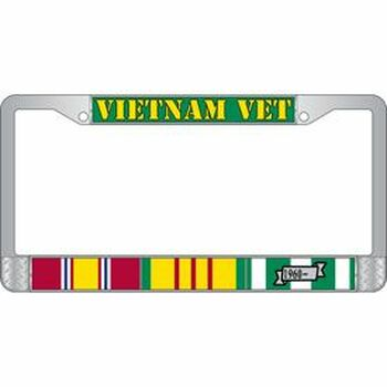Vietnam Veteran License Frame
