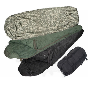 4pc Modular Sleep System MSS ACU Camo Sleeping Bag -55 Degrees Very Good Condition