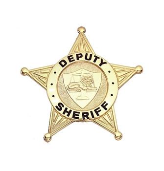 Deputy Sheriff Badge (Gold)