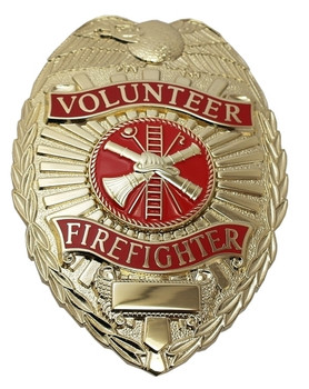 Volunteer Firefighter Badge (Gold)
