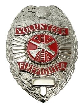 Volunteer Firefighter Badge (Nickel)