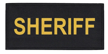"""Sheriff Chest Tactical Patch (5-1/2"""" X 2-5/8"""")"""