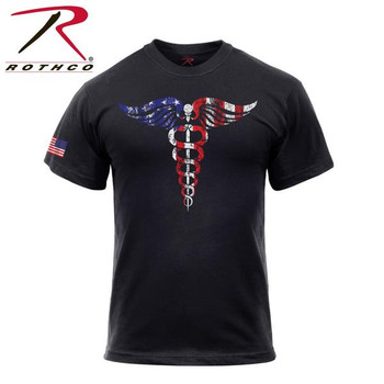 Rothco Medical Symbol (Caduceus) T-Shirt - Black