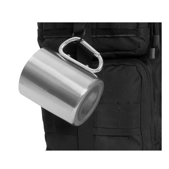 Rothco Stainless Steel Camping Cup with Carabiner