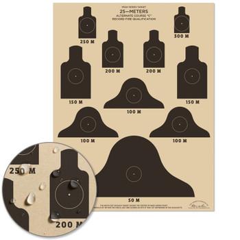 25 Meter ALT C Qualification Target - M16A1 10 pack