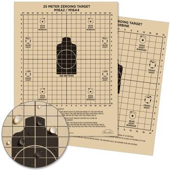 25M Zeroing Target, M16A2, M16A4, M4 Carbine
