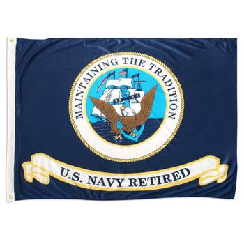 3x5 U.S. Navy Retired Flag