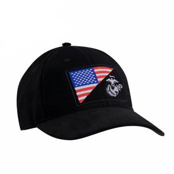 USMC Eagle, Globe and Anchor / US Flag Low Pro Cap