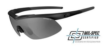 Tifosi Ordnance Tactical Sunglasses (Matte Black Smoke/HC Red/Clear Lens