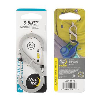 S-Biner Slide Lock Stainless Steel Carabiner