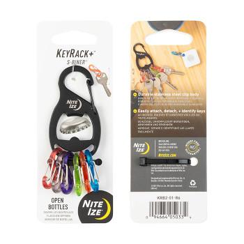 KeyRack+ S-Biner Carabiner Black