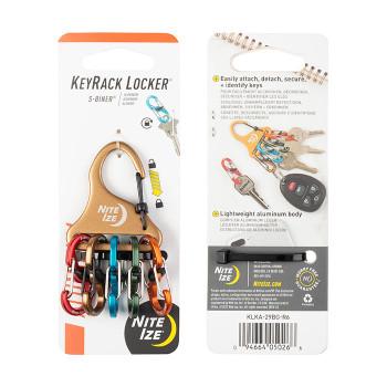 KeyRack+ S-Biner Locker Carabiner (Aluminum)