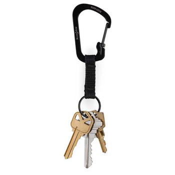 Slidelock Key Ring Black Stainless Steel