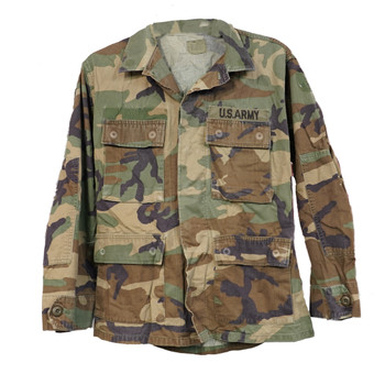 Original Military Woodland BDU Shirt used