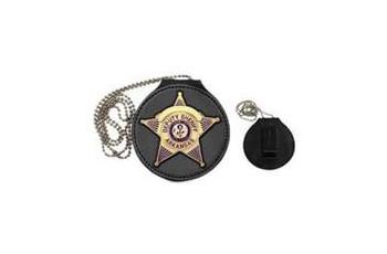 Hero's Pride Universal Leather Badge Holder for Star Neck or Belt
