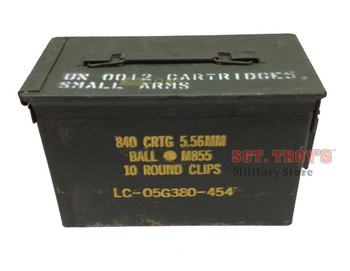 6 PACK Original .50 CALIBER 5.56mm AMMO CAN M2A1 50CAL METAL AMMO CAN BOX Very Good Condition