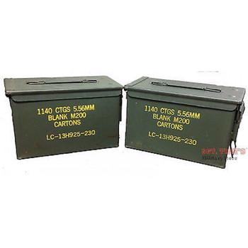 2 PACK Original .50 CALIBER 5.56mm AMMO CAN M2A1 50CAL METAL AMMO CAN BOX VGC
