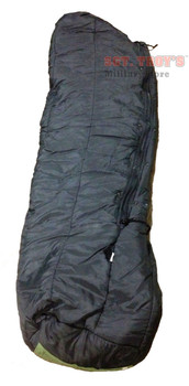 Military MSS Intermediate Cold Weather Sleeping Bag Black Very Good NSN