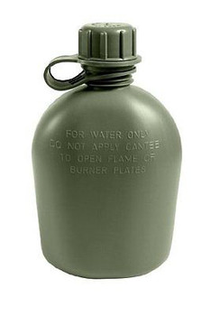 USGI 1 Quart Canteen 3 Piece Plastic BPA Free Made in USA NEW