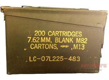 USGI METAL 30 CAL 7.62mm AMMO CAN M19A1 AMMO BOX .30 CALIBER GOOD-VG CONDITION