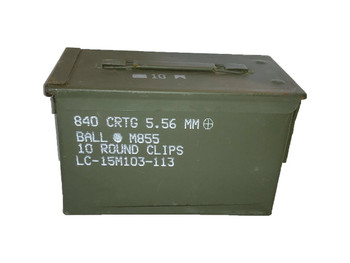 50 Cal Ammo Can M2A1 METAL Very Good Condition Grade 2